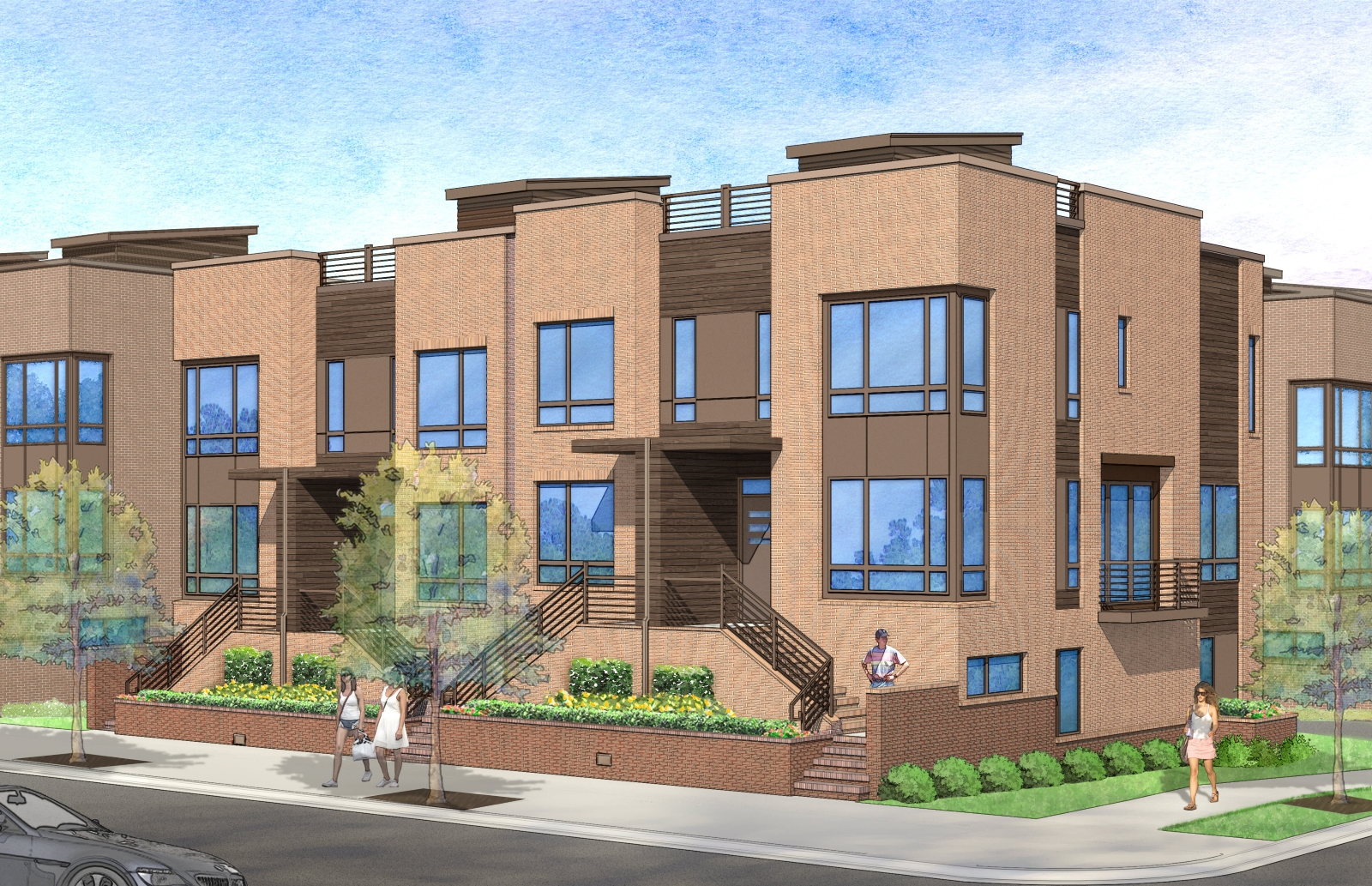 new townhomes at west and lenoir called west lenoir the raleigh connoisseur. Black Bedroom Furniture Sets. Home Design Ideas