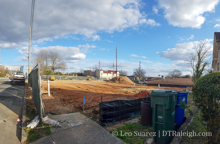 Current site at West and Lenoir, February 2017.