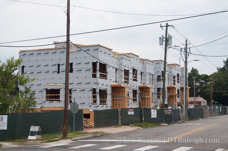 Construction of West and Lenoir townhomes