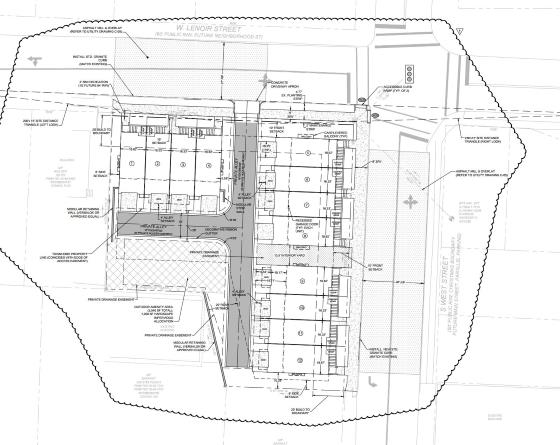 West Street Townhomes site plan