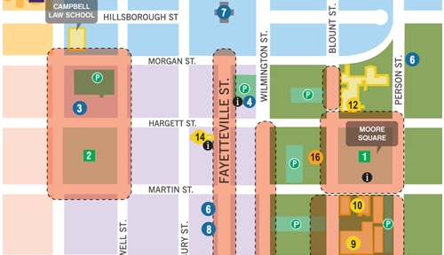 Downtown Raleigh Map on